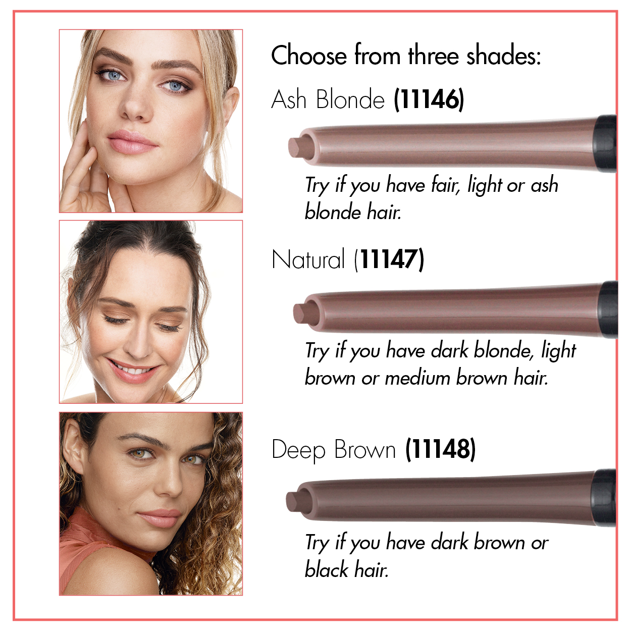 Brow shades choose your colour