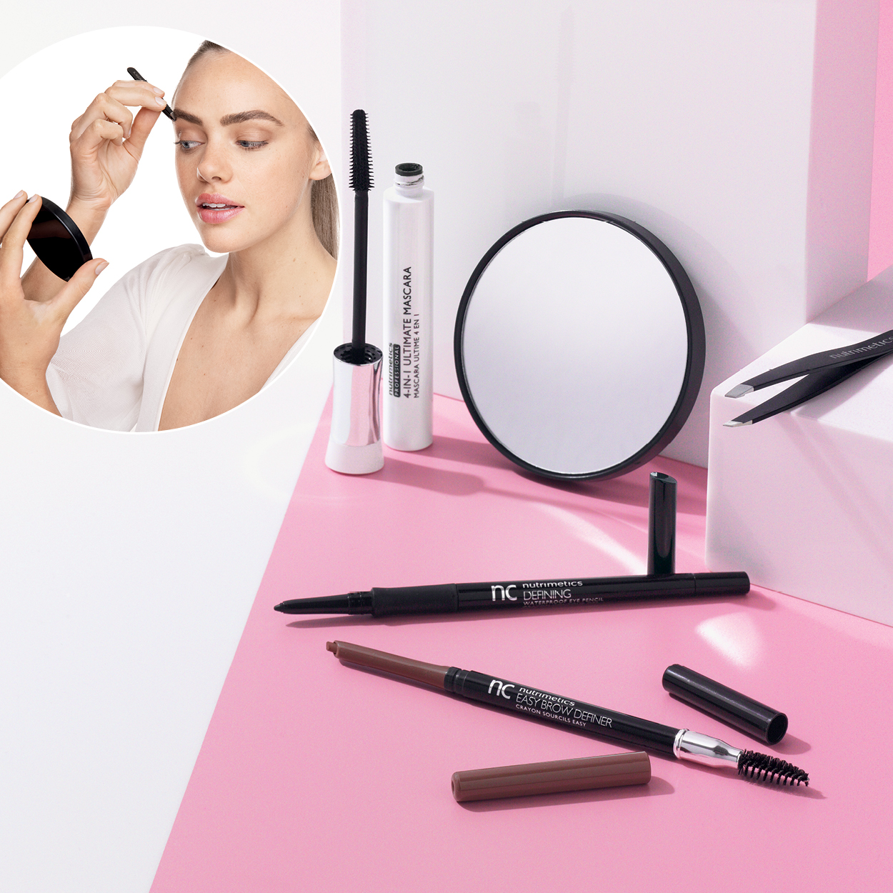 Buy the NEW brow set and get free accessories